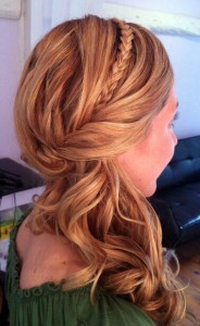 Bridal hair design with braid